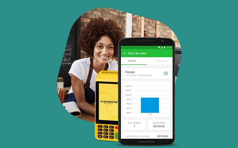 Moderninha Pro 2 e celular com app PagVendas