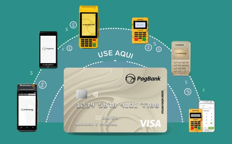 Maquininhas de cartão PagSeguro e cartão pré-pago
