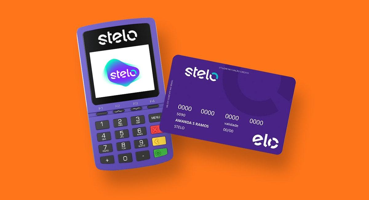 Maquininha de cartão Stelo Mob e cartão pré-pago da empresa