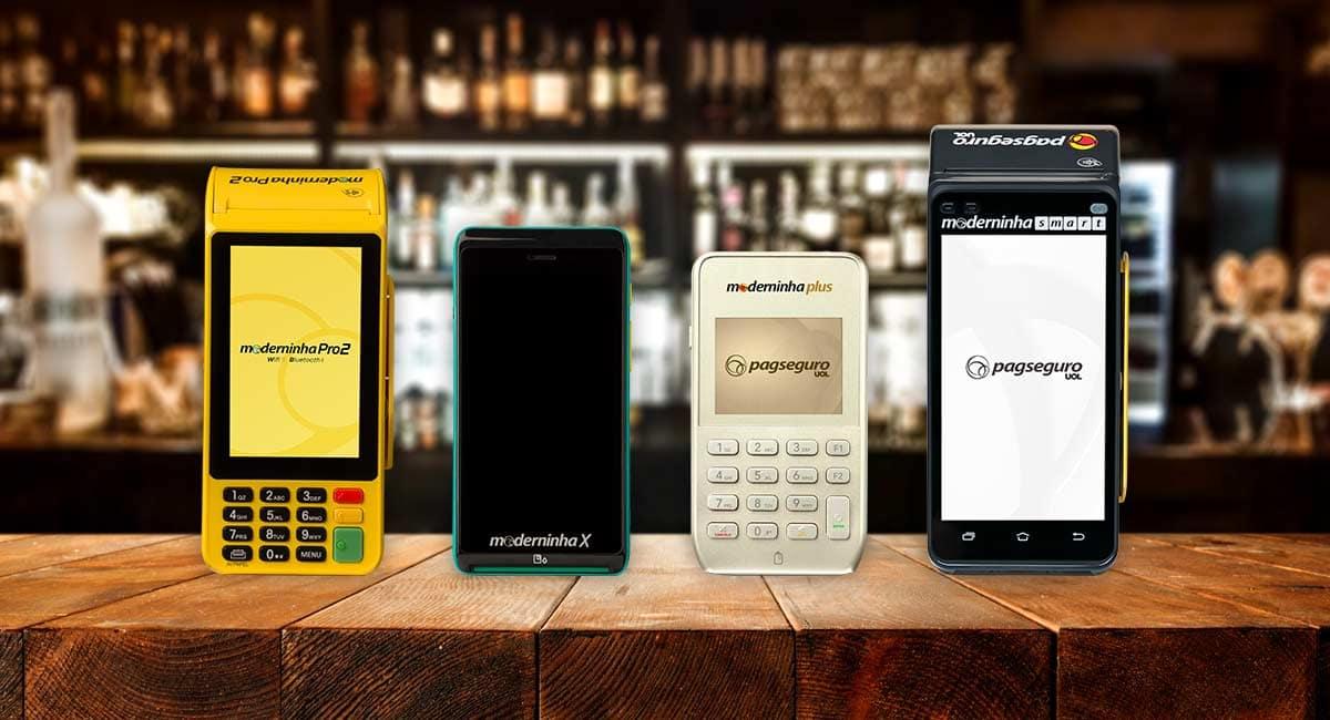 Moderninha Plus, Pro 2, x e Smart lado a lado sobre melhor para saber qual a melhor