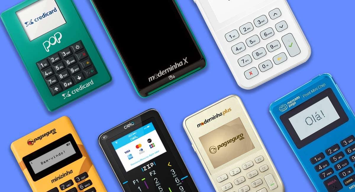 7 Melhores Maquininhas de Cartão: Moderninha Plus w X. Minizinha Chip 2, SumUp On, Point Mini Chip, Cielo zip e Pop Credicard