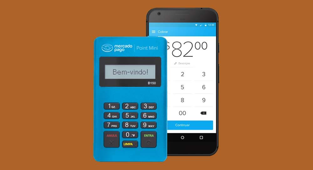 Mercado Pago Point Mini Chip com celular