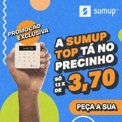 Banner SumUp por 12 vezes de R$3,70