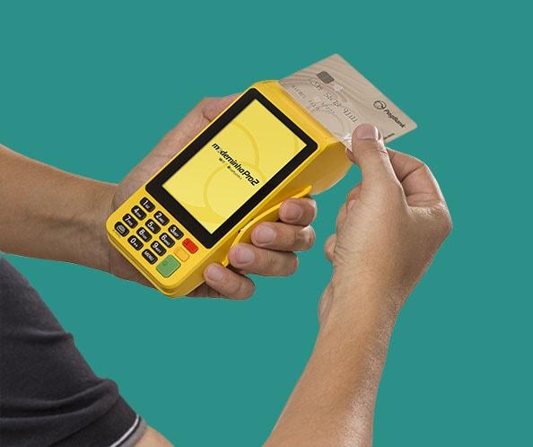 Moderninha Pro 2 recebendo pagamento com cartão via NFC