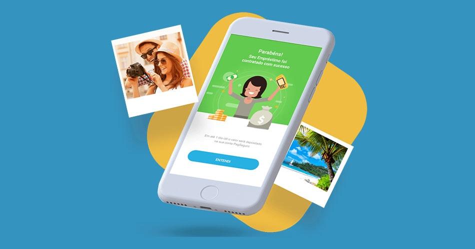 App Pagbank no celular na função empréstimo
