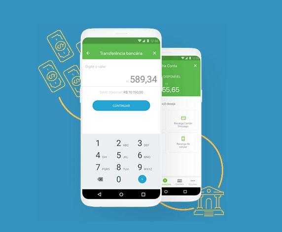 App Bank fazendo transferência