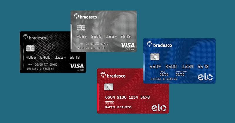 Cartões Bradesco Visa e Elo