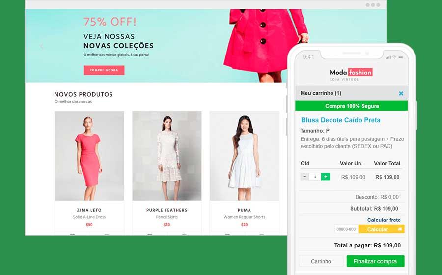 Template loja virtual do Uol