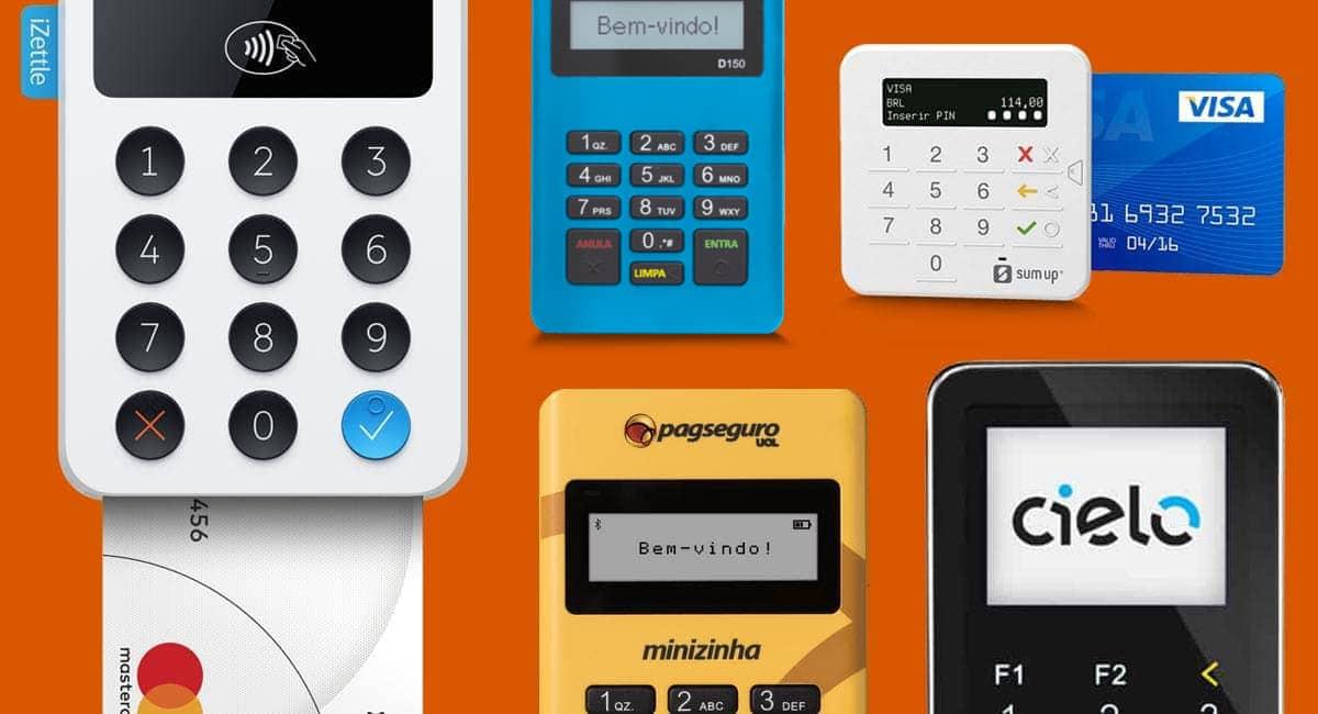Maquininhas de cartão para celular iZettle, Mercado Pago Point Mini, SumUP Top, Cielo e Minizinha