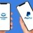 Celulares com logo Mercado Pago e PayPal na tela