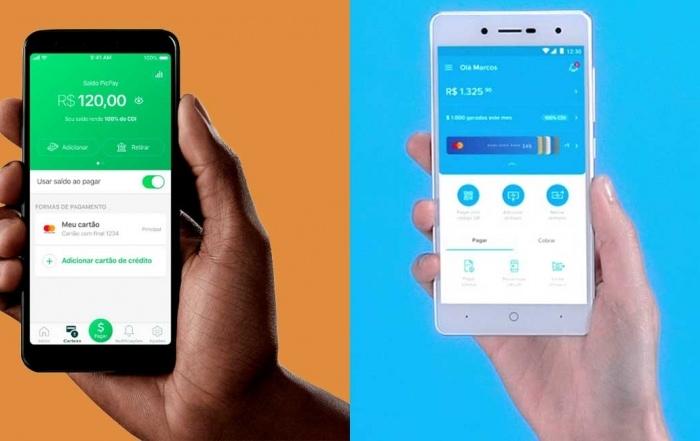 Celulares comparando app Meracdo Pago e PicPay