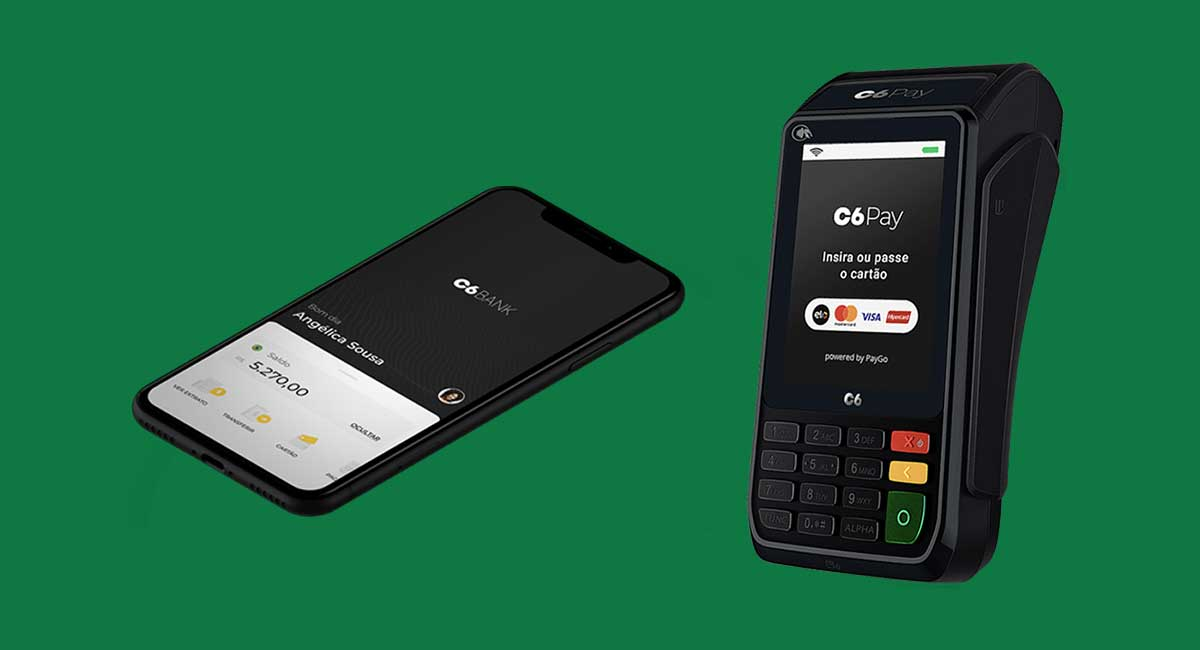 Maquininha de cartão C6 Bank