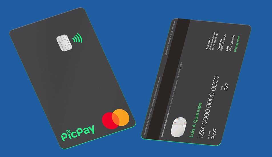 PicPay Card frente e verso