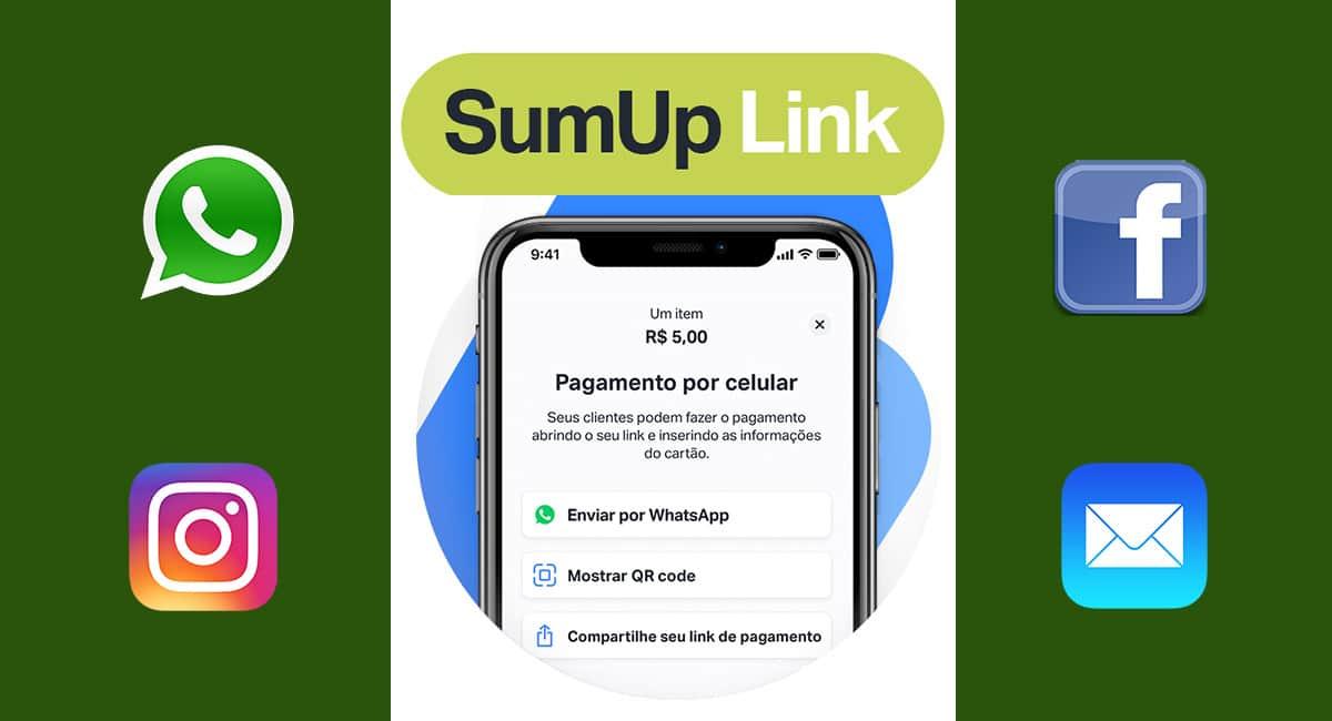 SumUp Link logo e app no celular