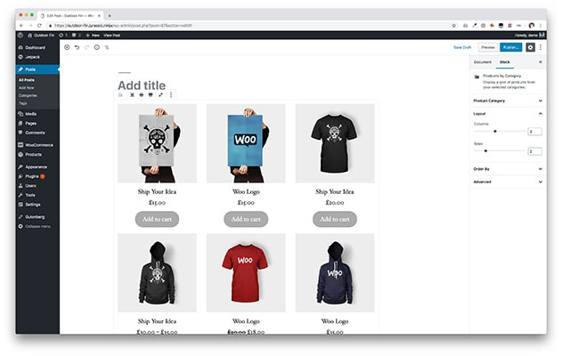 Registro de produtos WordPress Woocommerce