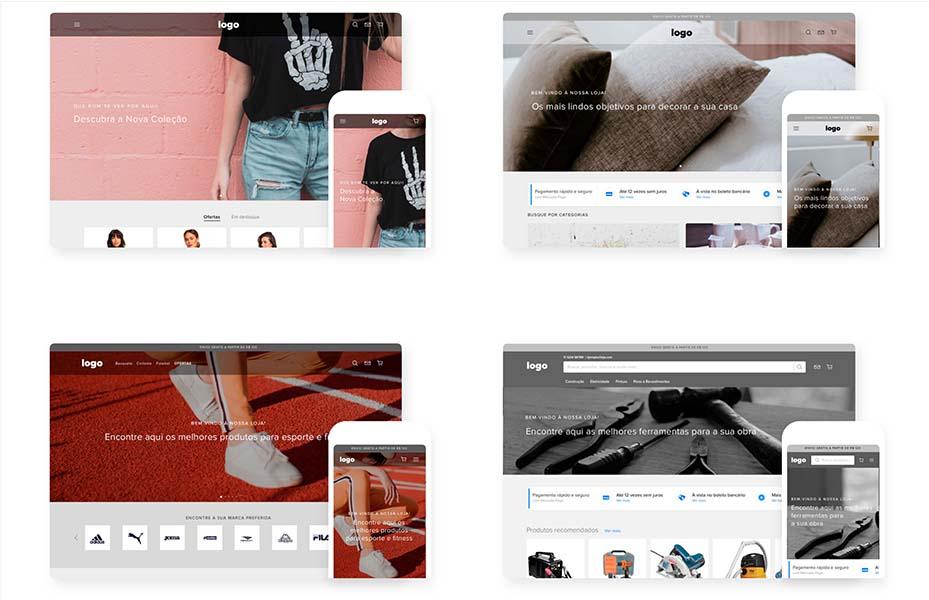 Temas de loja virtual do Mercado Shops