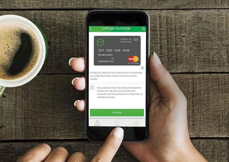 Cartão virtual do Banco Original