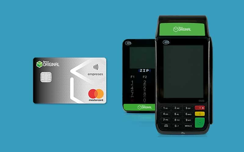 Maquininha de cartão e cartão Empresas Banco Original