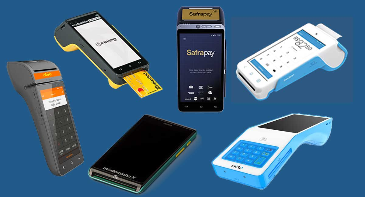 Melhor máquina de cartão smart: Moderninha Smart e X, Cielo V2, Mercado Pago Point Smart, Smart Rede, Cielo V2