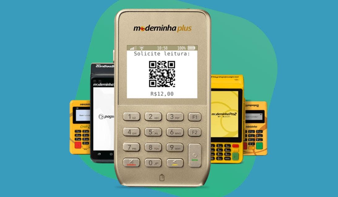 Moderninha Plus com QR Code na tela