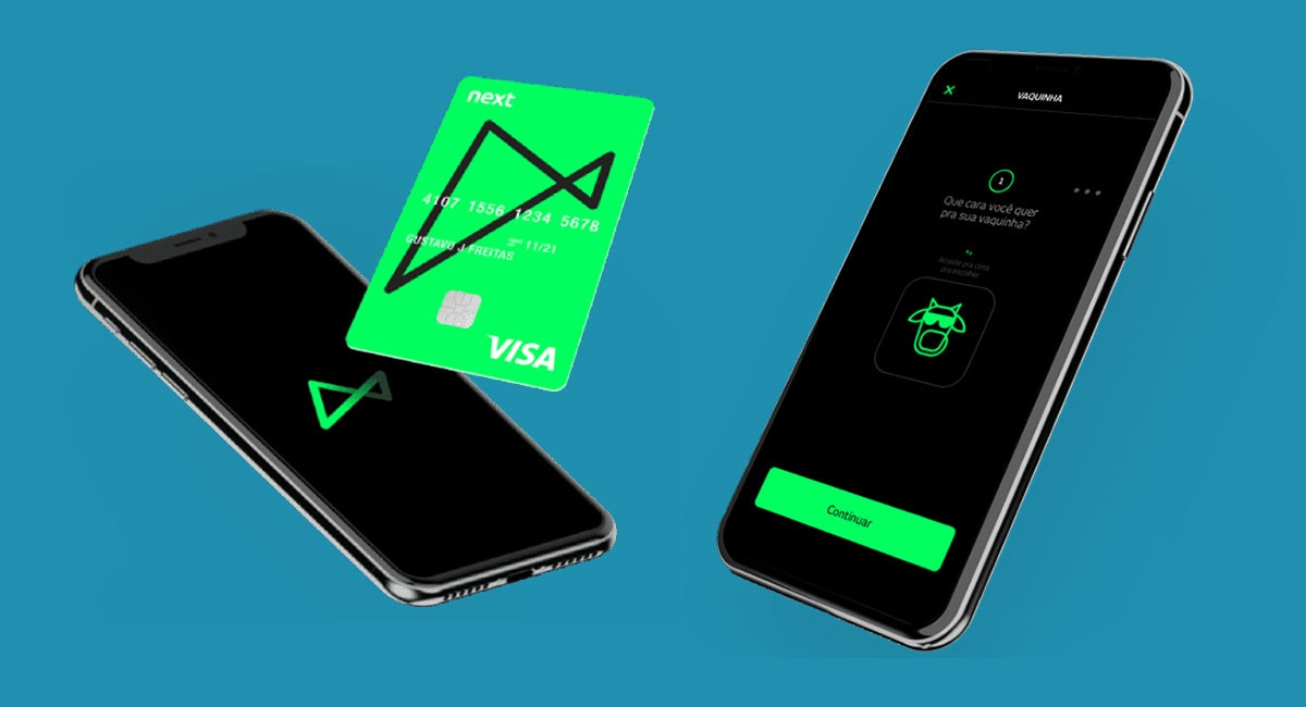 App e cartão da conta digital Banco Next