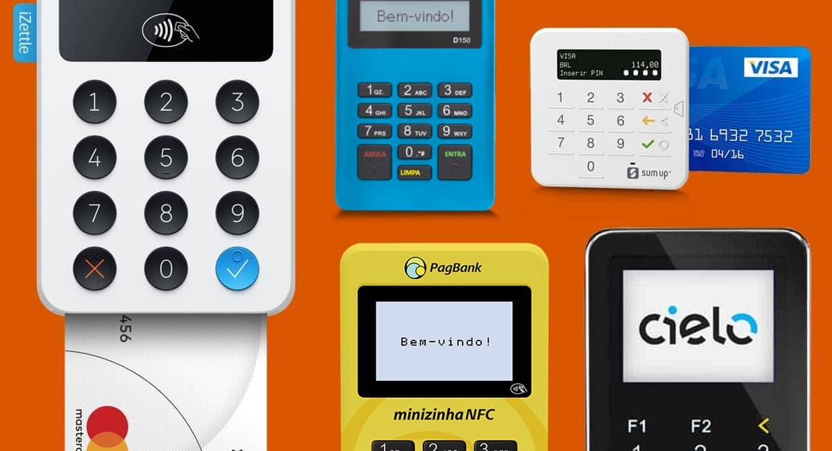 Minizinha NFC, iZettle, Cielo Mobile, Mercado Pago Point Mini, SumUp Top