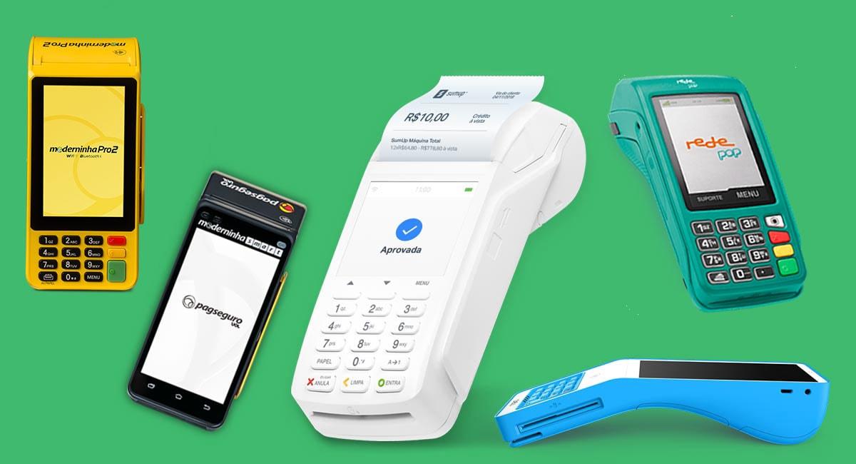 Moderninha Pro 2 e Smart, SumUp Total, Rede Pop Com Bobina e Cielo Lio