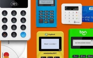 Maquinão iZettle, Mercado Pago Point Mini, SumUp Top, Minizinha NFC e Stone Ton T1