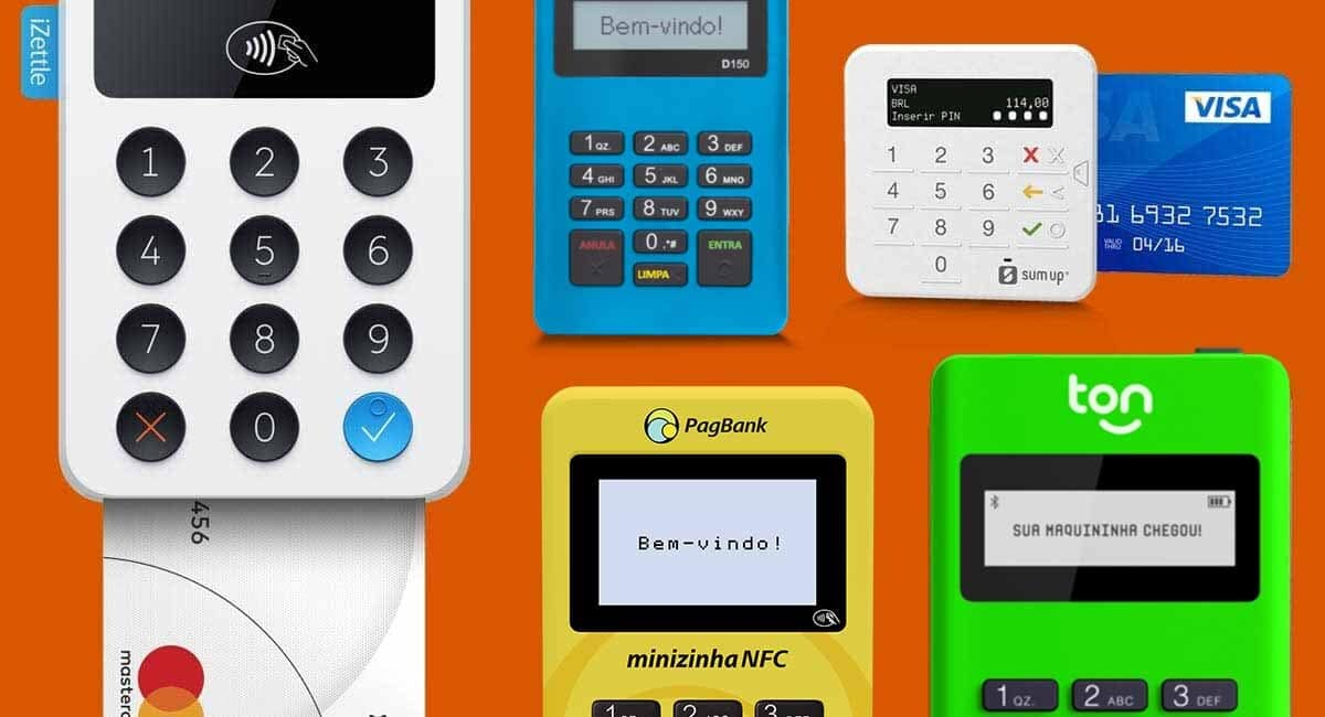 Maquinão iZettle, Mercado Pago Point Mini, SumUp Top, Minizinha NFC e Stone Ton T1