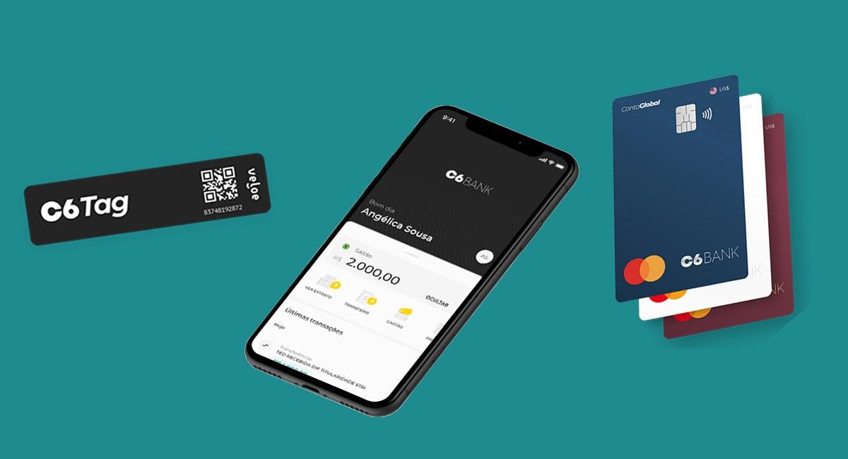 App, Tag e cartão C6 Bank