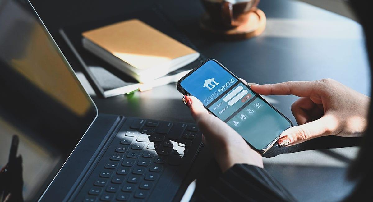 Conta digital de banco tradicional