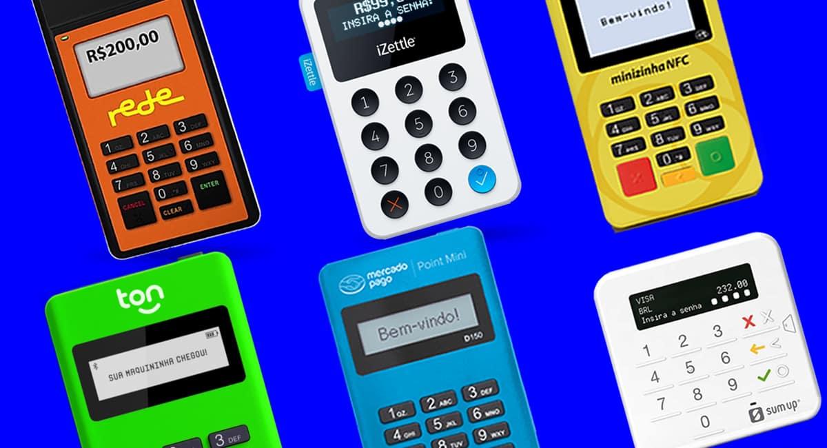 Stone Ton T1, Zettle, Minizinha NFC, SumUp Top, Mercado Pago Point Mini