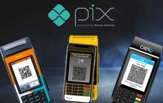 Máquinas Cielo, Rede e MOderninha Pro recebendo PIX