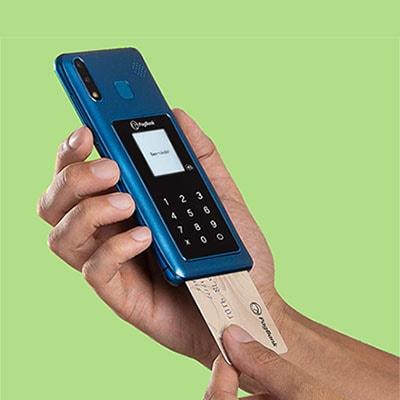 PagPhone recebendo cartão de chip