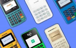 Rede Pop, SumUp On, Mercado Pago Point Mini, Minizinha Chip 2, Ton T2+ e Minizinha Plus