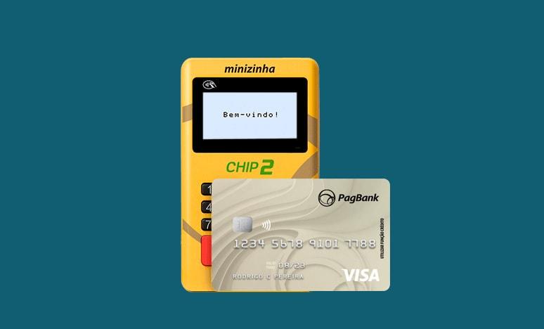 Minizinha Chip 2 e cartão PagBank