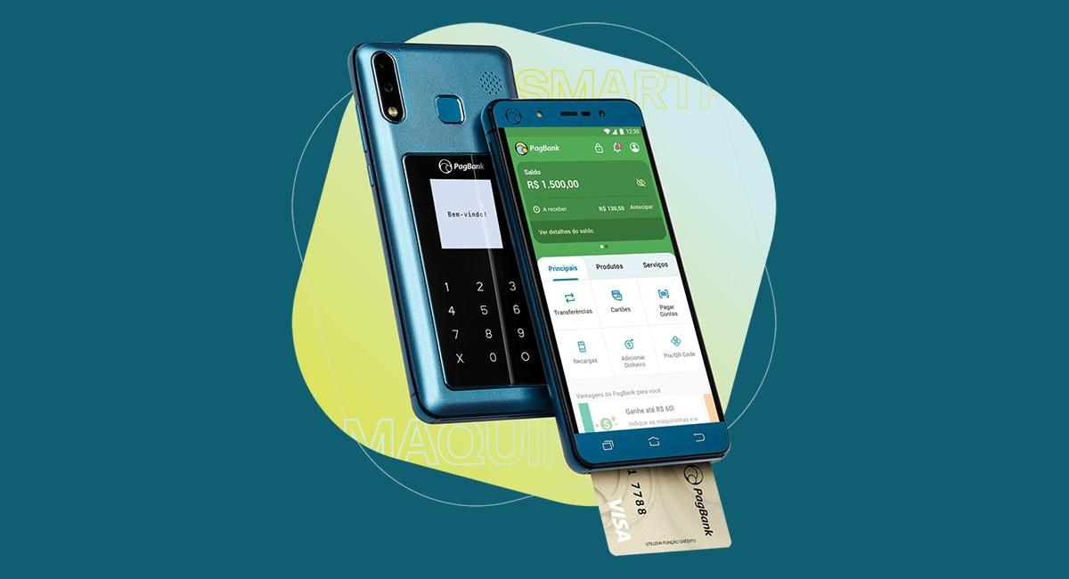 PagPhone recebendo pagamento com cartão de chip via app PagVendas
