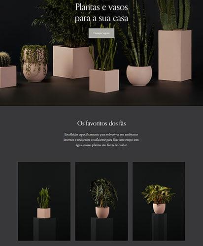 Tema Squarespace loja de plantas