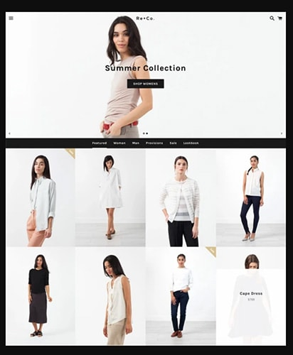 Tema Shopify para loja de roupas
