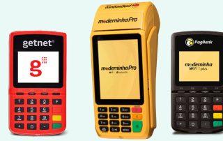 Máquinas de cartão Superget e Moderninha Pro e Wifi Plus