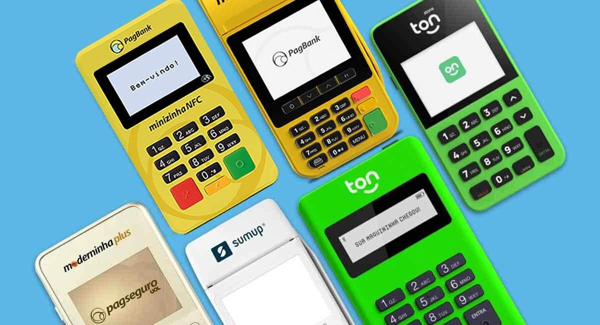 Minizinha Chip 2 e NFC, Moderninha ProFit e Plus, Ton T1 e T2+ e SumUp On