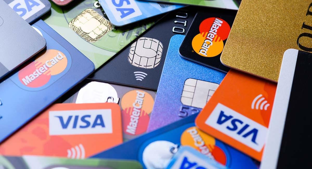 Cartões de débito, crédito e pré-pago