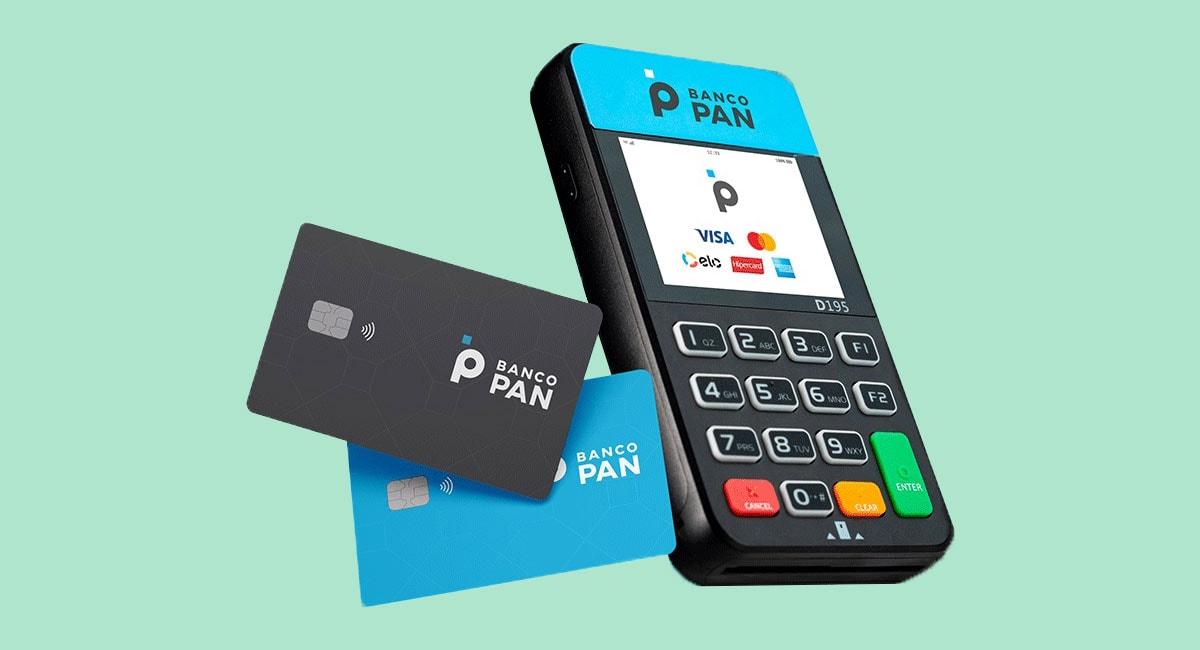 Maquininha e cartão banco Pan