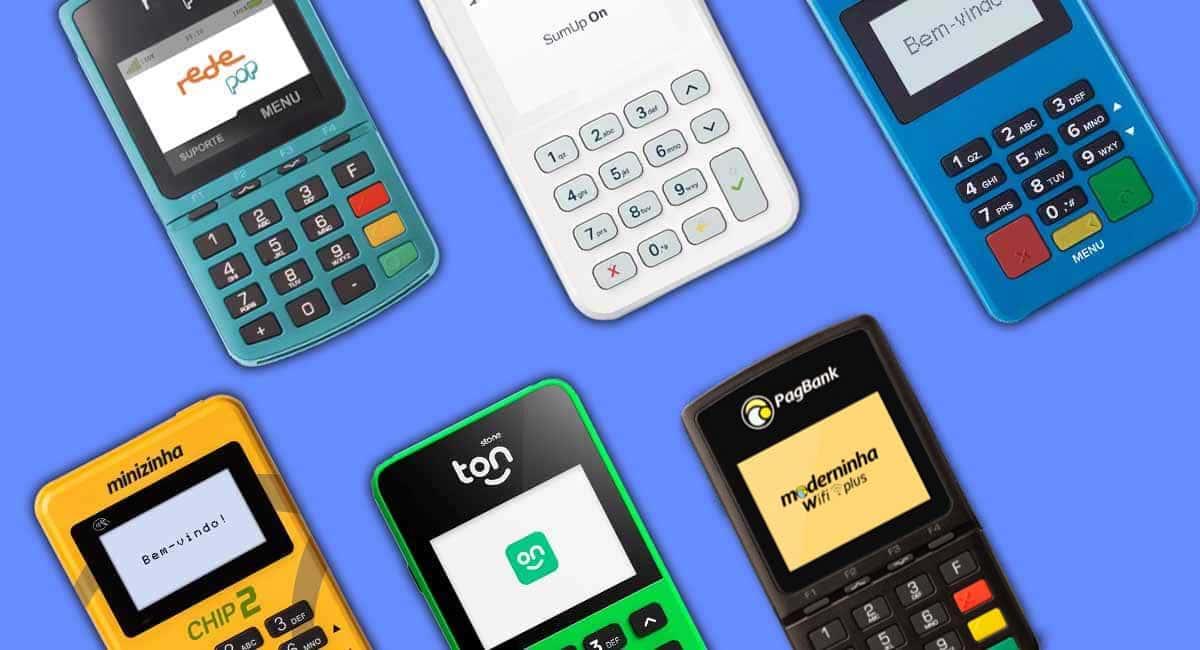 Rede Pop, SumUp On, Mercado Pago Point Mini Chip, Minizinha Chip 2, Ton T2+ e Moderninha Wifi Plus